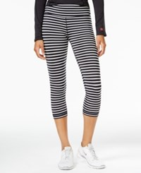 Tommy Hilfiger Sport Striped Cropped Leggings A Macy's Exclusive Black White