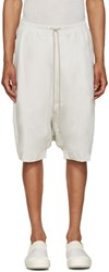 Rick Owens Drkshdw Off White Jersey Pods Shorts