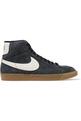 Nike Blazer Mid Suede High Top Sneakers Storm Blue