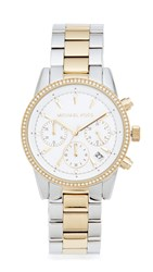 Michael Kors Ritz Watch Silver Gold