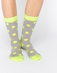Cath Kidston Button Spot Socks Yellow