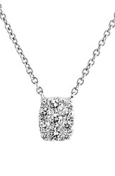 Women's Bony Levy 'Mika' Mini Rectangle Pave Diamond Pendant Necklace Nordstrom Exclusive