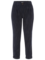 White Stuff Slouchy Striped Trousers Dark Oyster