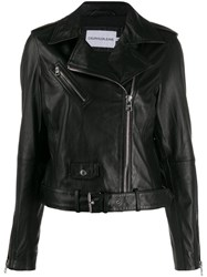 Calvin Klein Jeans Zipped Biker Jacket Black