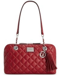 Calvin Klein Hastings Satchel Red Delicious