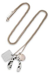 Proenza Schouler Hammered Gold And Silver Tone Necklace Silver