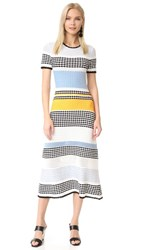 Novis Bennington Short Sleeve Dress Blue Marigold Ivory Black
