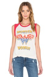Junk Food Wonder Woman Tank White