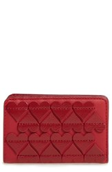 Marc Jacobs Women's Embossed Heart Compact Leather Wallet