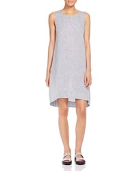 Eileen Fisher High Low Shift Dress Chambray