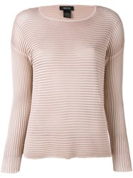Avant Toi Ribbed Knit Jumper Women Silk S Pink Purple
