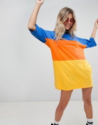 The Ragged Priest Oversize T Shirt Dress In Colour Block Multi