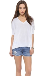 525 America V Neck Boxy Sweater Bleach White