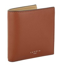 Sandro Leather Bifold Wallet Red