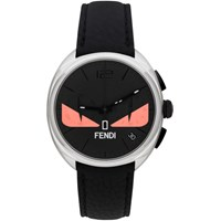 Fendi Black And Pink Momento Bugs Chronograph Watch