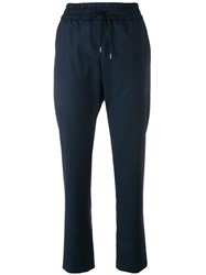 Odeeh Flanell Serge Trousers Blue