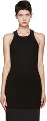Rick Owens Black Ribbed Tank Top