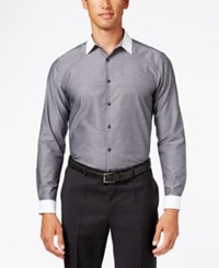 Inc International Concepts Men's Chambray Contrast Trim Long Sleeve Shirt Only At Macy's Grey