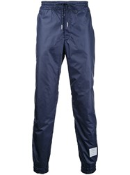 Thom Browne Elasticated Cuffs Track Pants Blue