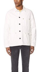Tom Wood Blue Worker Jacket Vintage White