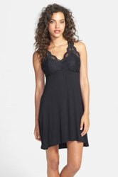 Fleurt Lace Top T Back Chemise Black