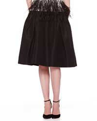 Carolina Herrera Silk Faille Party Skirt Black