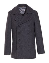 Schott Slim Fit Fashion Pea Coat Dark Oxford