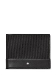 Montblanc Leather And Grosgrain Money Clip Wallet