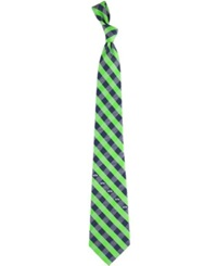 Eagles Wings Seattle Seahawks Checked Tie Team Color