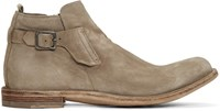 Officine Creative Taupe Ideal 26 Buckle Boots