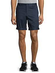 J. Lindeberg Printed Buttoned Shorts Blue