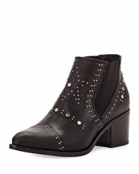 Andre Assous Frankie Embossed Leather Bootie Black