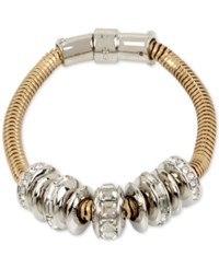 Kenneth Cole New York Two Tone Pave Ring Bracelet Gold