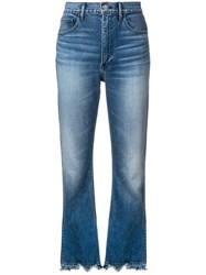 3X1 Empire Crop Bell Jeans Blue
