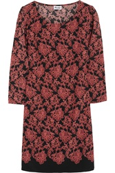 Alice By Temperley Olympia Printed Silk Crepe Mini Dress Red