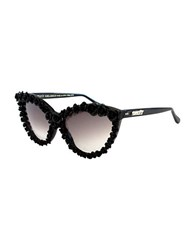A Morir Ellen Floral Accented Cats Eye Sunglasses Black