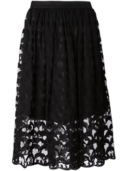 Tsumori Chisato Sheer Embroidered Dolphin Skirt