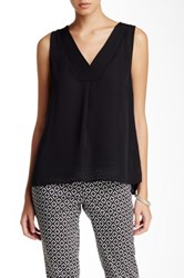 Laundry By Shelli Segal Double Layer Tank Black