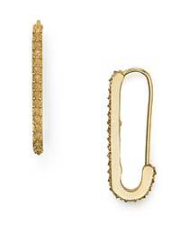 Rebecca Minkoff Mini Pave Safety Pin Drop Earrings Gold
