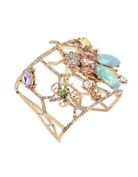 Betsey Johnson Pave Insect Geometric Cut Out Cuff Bracelet No Color
