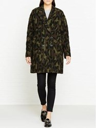 Paul Smith Ps By Camoflage Print Coat Green