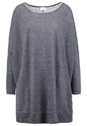 Vila Vikuk Long Sleeved Top Medium Grey Melange