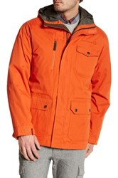 Free Country Peached Tri Blend Jacket With Inner Down Jacket Orange