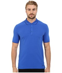 Hugo Delorian Polo With Contrast Piping Turquoise Aqua Men's Clothing Blue