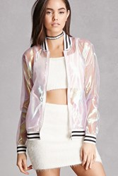 Forever 21 Pixie And Diamond Bomber Jacket Purple