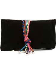 Dsquared2 Multicoloured Rope Clutch Black