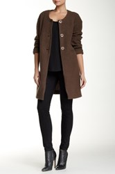 Luma Long Wool Blend Coat Brown