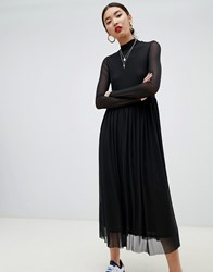 Na Kd Mesh Long Sleeve Dress In Black
