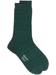 Ayame Basket Lunch Solid Ankle Socks Cotton Nylon Green
