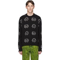 Mcq By Alexander Mcqueen Black Monsters Sweatshirt